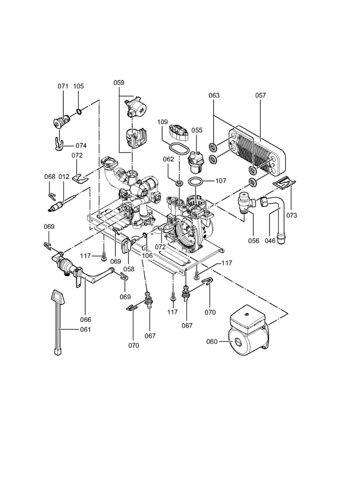 схема устройства газовой горелки giersch